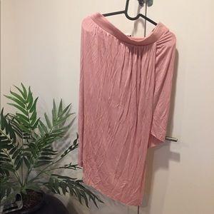 Boutique Asymmetrical wrap skirt pink size large